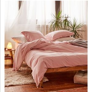 Urban outfitters washed cotton pink duvet & Sham